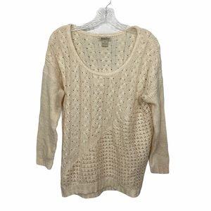 Lucky Brand Wool Oversized Knit Sweater